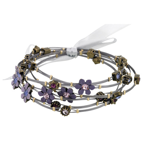 Shades of Lavender Vintage Inspired Whisper Flower Bracelets