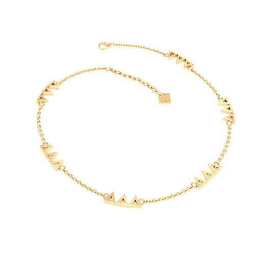 Delta Delta Delta Gold Plated Multi Mini Bracelet