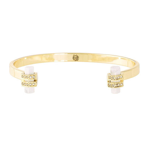 House of Harlow's Howlite Resin Chrysalis Cuff
