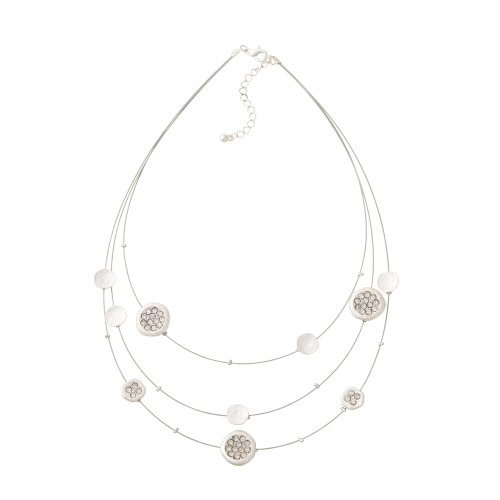 Three Strand Silver Illusion Necklace