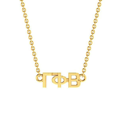 Gamma Phi Beta Gold Horizontal Lavalier