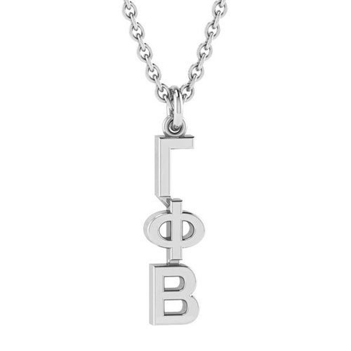 Gamma Phi Beta Silver Original Lavalier Necklace