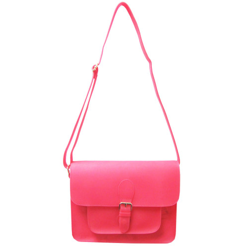 Sondra Roberts Pink Neon Jelly Cross Body Bag