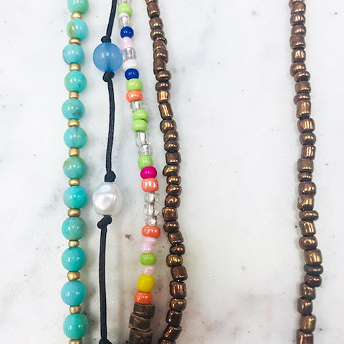 Four Bohemian Beaded Layers Necklace 1