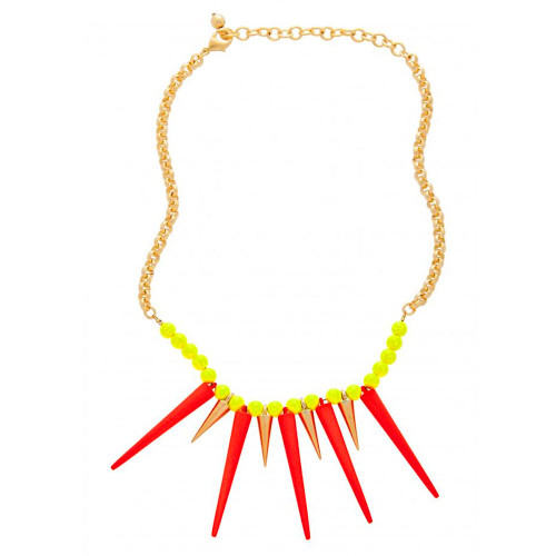 Zoe's Vibrant Orange Spiked Necklace