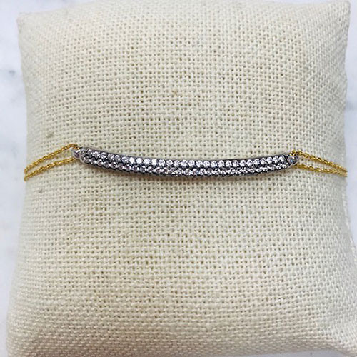 Vermeil Cubic Zirconia Bar Bracelet