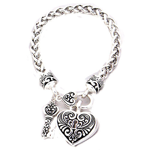 Yuri's Heart and Key Bracelet