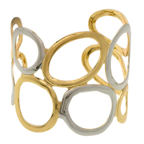 Two Toned Open Circle Cuff