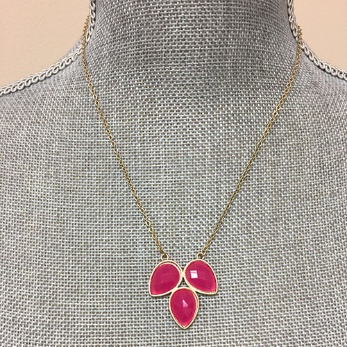 Three Lotus Petals Necklace