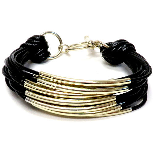 Black/Gold Bar Bracelet