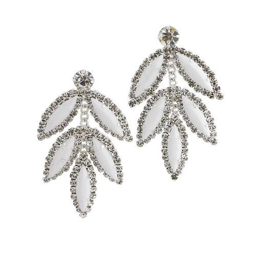 Five Leaf Earring White