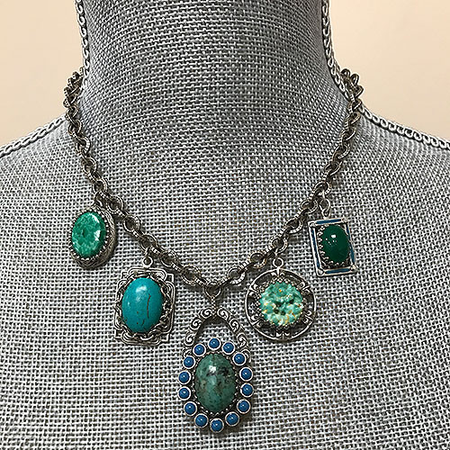 Vintage Blues and Greens Necklace