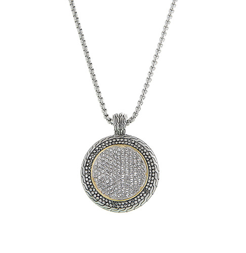 Large Designer Crystal Pave Medallion