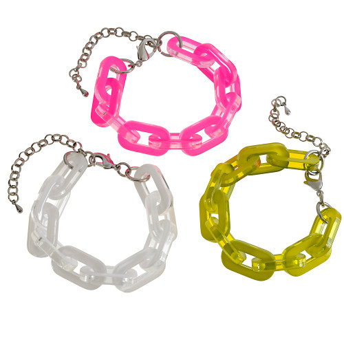 Neon Resin Linked Bracelets