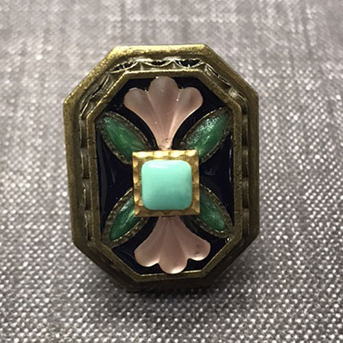 Enameled Shield Ring