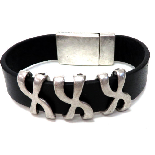 Calf Hair and Black Diamond Bracelet