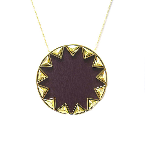 House of Harlow Large Aubergine Sunburst