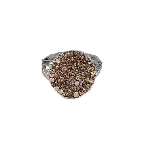 Smaller Light Colorado Topaz Pave Ring