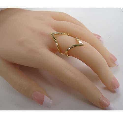 Open Chevron Ring