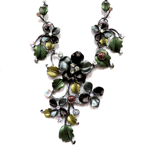 Enamel Fantasy Vine Necklace