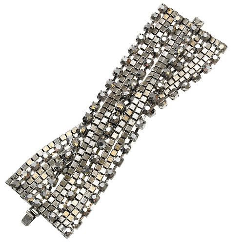 Rocker/Moto Glam Multi Chain Bracelet Antique Silver