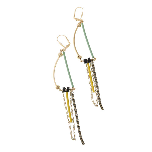 Geometric Dangle Earring