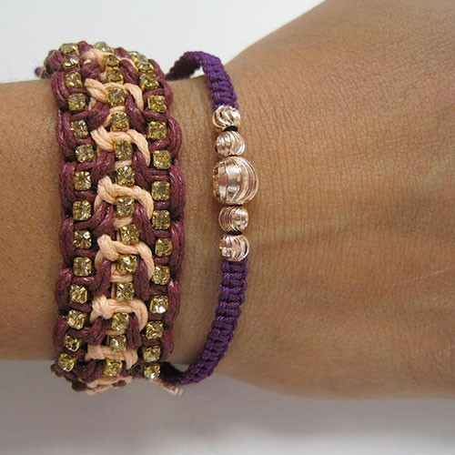 Set Of Two Boho Chic Bracelets