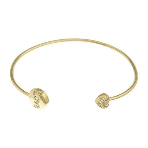 Gold Love Open Slim Cuff