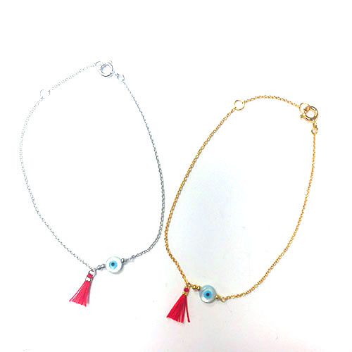 Evil Eye with Red Tassel Bracelet