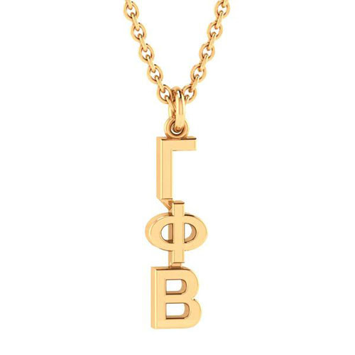 Gamma Phi Beta Gold Original Lavalier Necklace
