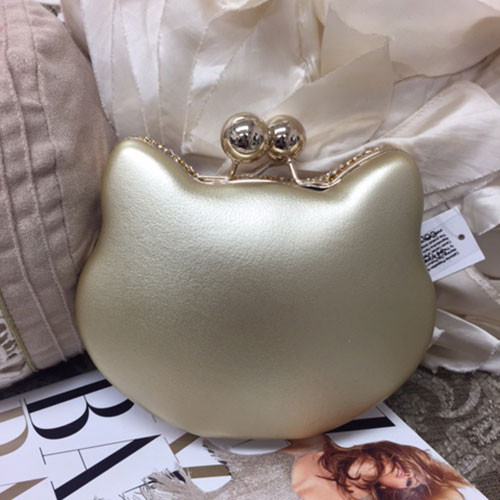 Meow! Gold Crystal Cat Bag