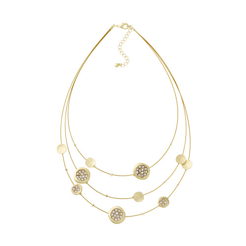 Three Strand Gold Illusion Necklace