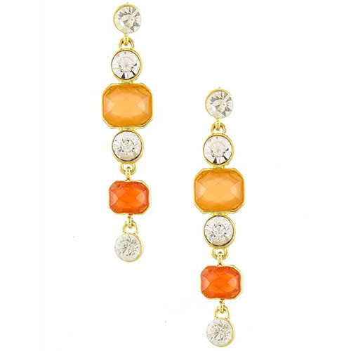 Opaque Orange Drop Earrings
