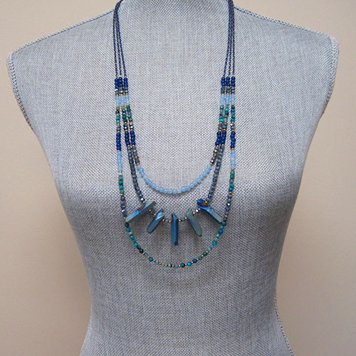 Tribal Peacock Layered Chain