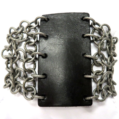 Rock On Leather and Chain Cuff