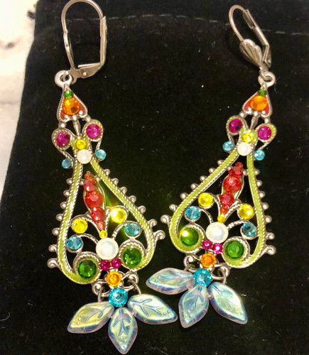 Large Filigree Pendulum Bright Earring