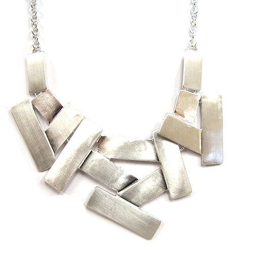 Layered Planks Statement Necklace