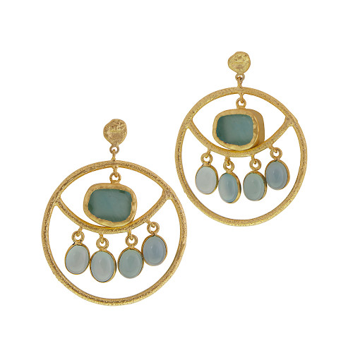 Exotic Treasures Hoop Earring