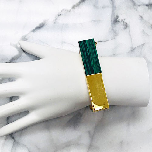 C.C. Skye's Malachite and Gold Platform Statement Cuff