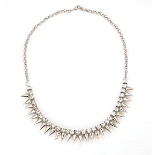 Sophisticated and Fierce Spiked Necklace