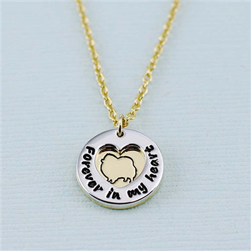 "Pomeranian ""Fur Baby"" Forever in Our Hearts Necklace"
