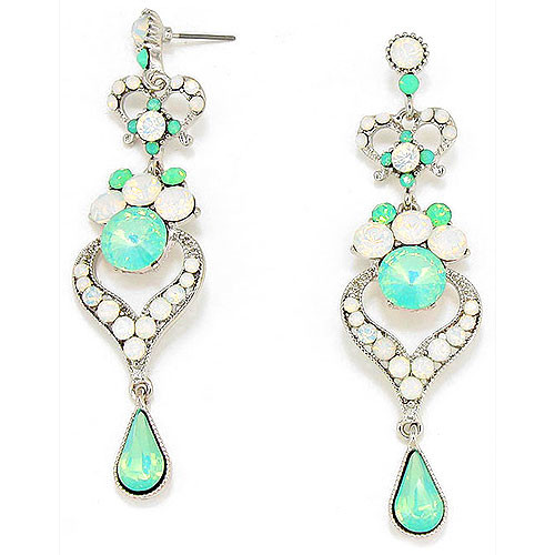 White & Mint Opal Daphne Duster Earring S