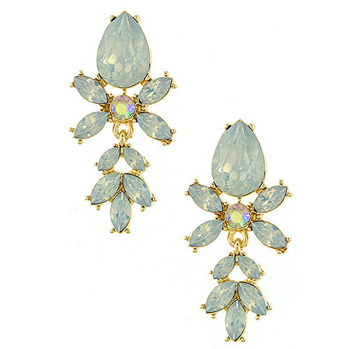 Peyton's Gray-Blue Opal Jeweled Earring