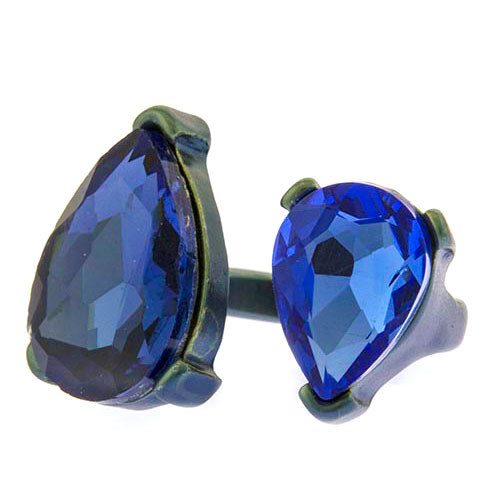 Double Sapphire Jewel Ring