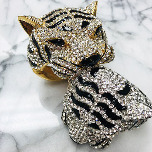 Colossal Crystal Tiger Face Cuff