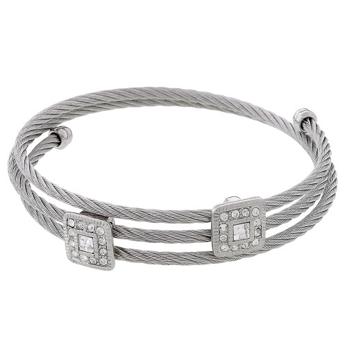 Square Twisted Metal Bracelet