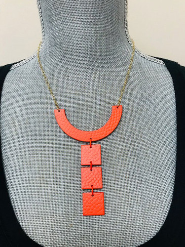 Warhol Tile Necklace Orange
