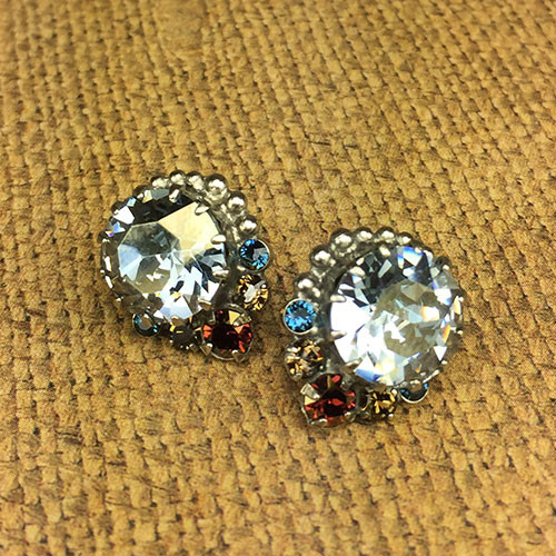 Sorrelli Large Indian Sapphire Swarovski Post Earring