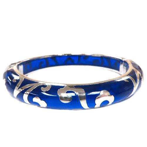 AHC's Blue and Silver Scrolled Bangle
