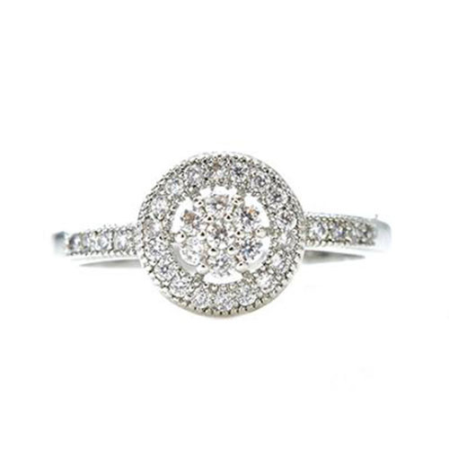 Petite Pave Cubic Zirconia Ring